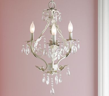 beautiful chandelier for a little girl s room via pbk
